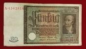 50 Rentenmark 1934 Weimarer Republik Rentenbank 6. Juli 1934 Freiherr v... 59,00 EUR  excl. 8,50 EUR verzending