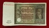 50 Rentenmark 1934 Weimarer Republik Rentenbank 6. Juli 1934 Freiherr v... 55,00 EUR  excl. 8,50 EUR verzending