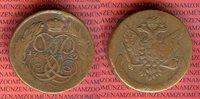 5 Kopeken 1759 Russland Kupfermünze Elisabeth I. Petrowna 1741-1761 ss  65,00 EUR  + 8,50 EUR frais d'envoi