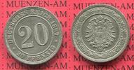 20 Pfennig 1887 A Kaiserreich Germany kleiner Adler prägefrisch  55,00 EUR  + 8,50 EUR frais d'envoi