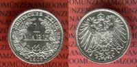 1 Mark Silbermünze 1908 E Kaiserreich German Empire Kursmünze Erhaltung... 35,00 EUR  + 8,50 EUR frais d'envoi