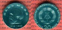 20 Mark Silbergedenkmünze 1968 DDR Gedenkmünze 150. Geburtstag Karl Mar... 49,00 EUR  +  8,50 EUR shipping