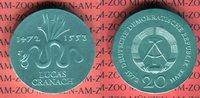 20 Mark Silbergedenkmünze 1972 DDR Gedenkmünze 500. Geburtstag von Luca... 3614 руб 49,00 EUR  +  627 руб shipping