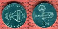 20 Mark Silbergedenkmünze 1980 DDR Gedenkmünze 75. Todestag Ernst Abbe ... 49,00 EUR  +  8,50 EUR shipping