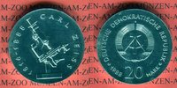 20 Mark Silbergedenkmünze 1988 DDR Gedenkmünze 100. Todestag Carl Zeiss... 220,00 EUR  +  8,50 EUR shipping
