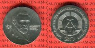 20 Mark Silbergedenkmünze 1973 DDR Gedenkmünze 60.Todestag August Bebel... 46.55 US$ 42,00 EUR  +  9.42 US$ shipping