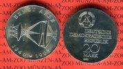 DDR 20 Mark Silbergedenkmünze Gedenkmünze 75. Todestag Ernst Abbe