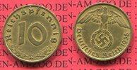 10 Pfennig Kursmünze mit Hoheitszeichen 1936 E III. Reich, Weimarer Rep... 155.16 US$ 140,00 EUR  +  9.42 US$ shipping
