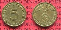5 Pfennig Kursmünze mit Hoheitszeichen 1936 D III. Reich, Weimarer Repu... 94.21 US$ 85,00 EUR  +  9.42 US$ shipping