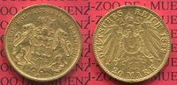20 Mark Goldmünze 1899 Hamburg, German Empire Free City of Stadtwappen ... 320,00 EUR  Excl. 8,50 EUR Verzending