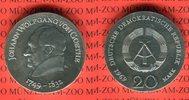 20 Mark Silbergedenkmünze 1969 DDR Gedenkmünze 220. Geburtstag Johann W... 55,00 EUR  Excl. 8,50 EUR Verzending
