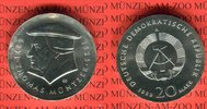 20 Mark Silbergedenkmünze 1989 DDR Gedenkmünze 500. Geburtstag Thomas M... 65,00 EUR  Excl. 8,50 EUR Verzending