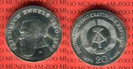 20 Mark Silbergedenkmünze 1970 DDR Gedenkmünze 150. Geburtstag Friedric... 50,00 EUR  Excl. 8,50 EUR Verzending