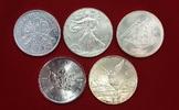 5 Silbermünzen je 1 Unze Silber versch. Jahre Verschiedene Länder Fünf ... 123,00 EUR  +  8,50 EUR shipping