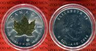 5 Dollars Silbermünze 2014 Kanada Maple Leaf Goldenes Ahornblatt BU mit... 35,00 EUR  +  8,50 EUR shipping