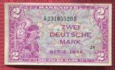 2 DM  Deutsche Mark Kopfgeld 1948 Bundesre...