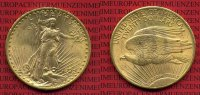 USA 20 Dollars Gold St. Gaudens Double Eagle USA 20 Dollars Double Eagle 1922 Gold St. Gaudens Typ vz-prfr. nicht gereinigt