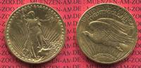 USA 20 Dollars Gold St. Gaudens Double Eagle USA 20 Dollars Double Eagle 1922 Gold St. Gaudens Typ vz-prfr.