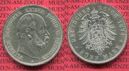Preuen 5 Mark Preuen 5 Mark 1874 A , Wilhelm I.  J. 97, prgefrisch f. stgl.