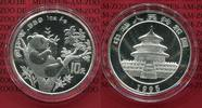 China 10 Yuan Panda 1 Unze Silber 1995 Ste...
