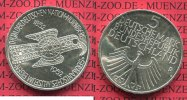 Bundesrepublik Deutschland 5 DM Gedenkmnze Silber 5 DM 1952 D, 100 Jahre Germanisches Museum in Nrnberg Adlerfibel 5 DM Silber