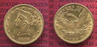 USA 10 Dollars Gold Liberty  Eagle 1892 vz...