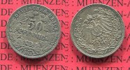 50 Pfennig 1903 A Kaiserreich 50 Pfennig Silber, 1903 A J. 15 sehr schö... 249,99 EUR  +  8,50 EUR shipping