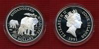 100 Dollars Silber 5 Unzen 1991 Cook-Inseln, Cook Islands Elephant Cook... 149,00 EUR  +  8,50 EUR shipping
