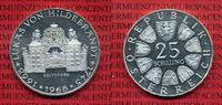 Österreich, Austria 25 Schilling ATS Silber Österreich 25 Schilling 1964 Silber Lukas von Hildebrandt PP lose