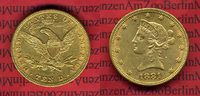 USA 10 Dollars Goldmünze Eagle Coronet Head USA 10 Dollars Liberty, Frauenkopf, 1881 o. Mzz. Coronet Head Gold