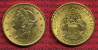 USA 20 Dollars Gold Liberty  Double Eagle USA 20 Dollars Liberty, Frauenkopf, 1904 Gold vz Double Eagle