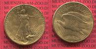 USA 20 Dollars Gold St. Gaudens Double Eagle USA 20 Dollars Gold 1922 St. Gaudens Typ Double Eagle