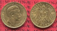Preußen, Prussia German Empire 20 Mark Goldmünze Kursmünze Preußen 20 Mark Gold 1905 J Wilhelm II.  J. 252, in Hamburg geprägt