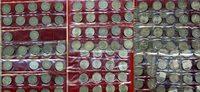 Bundesrepublik Deutschland 72 x 5 DM Silberadler Kompl. o. 1958 J 72 x 5 DM Silberadler Satz ohne 1958 J, zirkuliert
