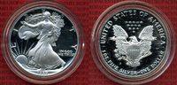 USA 1 Dollar Silver Eagle 1 Unze USA 1 Dollar Silver Eagle 1 Unze, 1989 PP nur mit Kapsel
