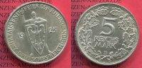 Weimarer Republik Deutsches Reich 5 Mark Weimarer Republik Silber Weimarer Republik 5 Mark Rheinlandfeier 1925 D,  Silber