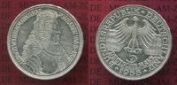 Bundesrepublik Deutschland, FRG, Germany 5 DM Gedenkmünze Silber 5 DM 1955 G, 300. Geburtstag Ludwig Wilhelm  Markgraf v. Baden sog. Türkenlouis