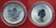 Kanada 5 Dollars Silbermnze Maple Leaf Kanada 1 Unze Maple Leaf 5 Dollars Privy Mark Dragon Drachen Lunar 