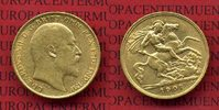 Half Sovereign Goldmünze 1907 England  Great Britain UK Edward VII. seh... 185,00 EUR170,00 EUR  +  8,50 EUR shipping