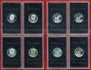 USA 4 x 1 Dollar USA 4 x 1 Dollar Silber 1971 bis 1974 S Lot Mondlandung, Eisenhower