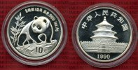 China Volksrepublik PRC 10 Yuan Panda Silb...