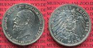 Schaumburg Lippe 3 Mark Silber Gedenkmünze Schaumburg Lippe 3 Mark 1911, Auf den Tod von Fürst Georg, J. 166