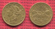 USA 20 Dollars Goldmünze Double Eagle USA 20 Dollars Liberty, Frauenkopf, Double Eagle 1878 S Gold, sehr schön