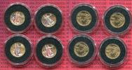 USA 4 x 5 Dollars Golden Eagle 1/10 Unze USA 4 x 5 Dollars Gold Eagle 2003 Farbmnzen Four Seasons Peace for the World