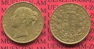 England  Great Britain UK Sovereign Goldmünze England 1847 Sovereign England Goldmünze Victoria Shield Typ