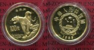 China Volksrepublik PRC 100 Yuan Goldmünze...