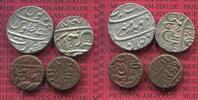 2 x Rupie + 2 x Bronzen o.J.  Indien Mughal Indien 2 x 1 Rupie  Silber ... 200,00 EUR