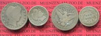USA  25 Cents Barber Quarter und Dime 1898...