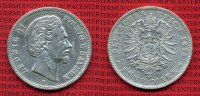 Bayern 5 Mark Silbermnze Bayern 5 Mark 1875 D Ludwig II. J. 42