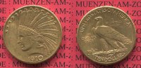 USA 10 Dollars Eagle Indian Head 1910 D f. vz nicht gereinigt USA 10 Dol... 799,00 EUR